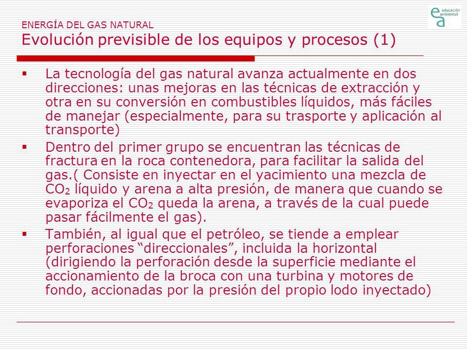 ENERGÍA DEL GAS NATURAL Evolución previsible de los equipos y procesos (1)