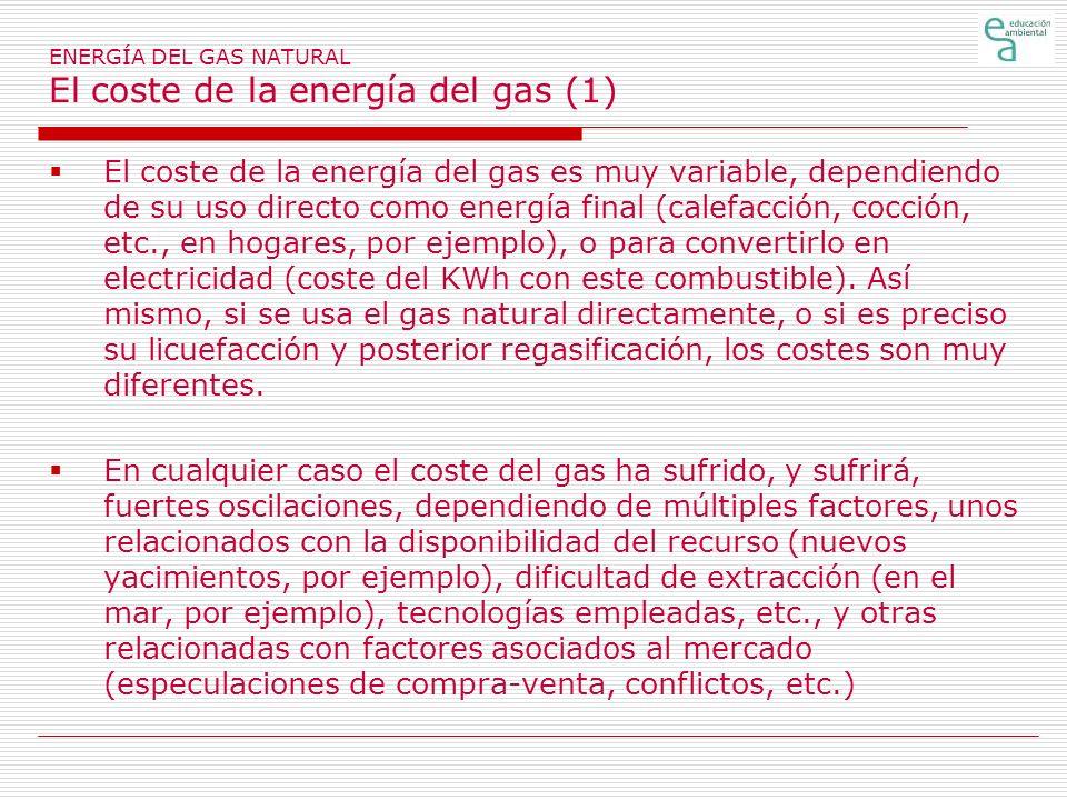 ENERGÍA DEL GAS NATURAL El coste de la energía del gas (1)