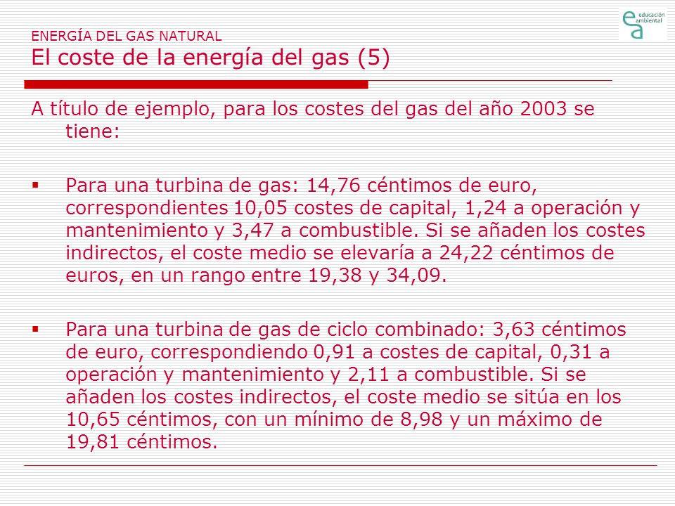 ENERGÍA DEL GAS NATURAL El coste de la energía del gas (5)