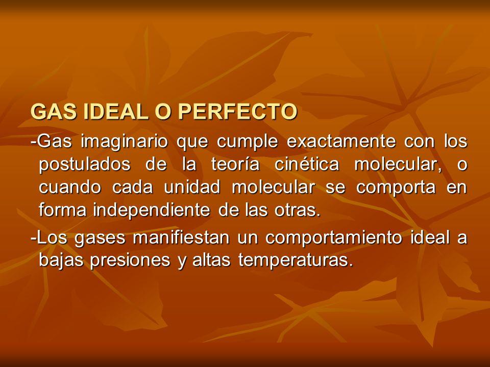 GAS IDEAL O PERFECTO