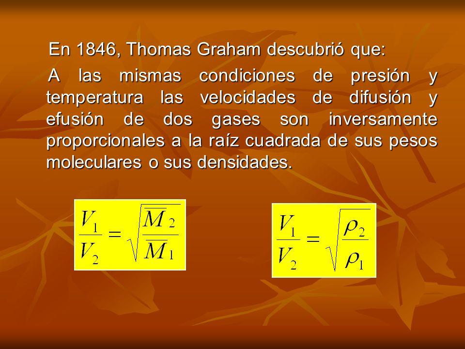 En 1846, Thomas Graham descubrió que: