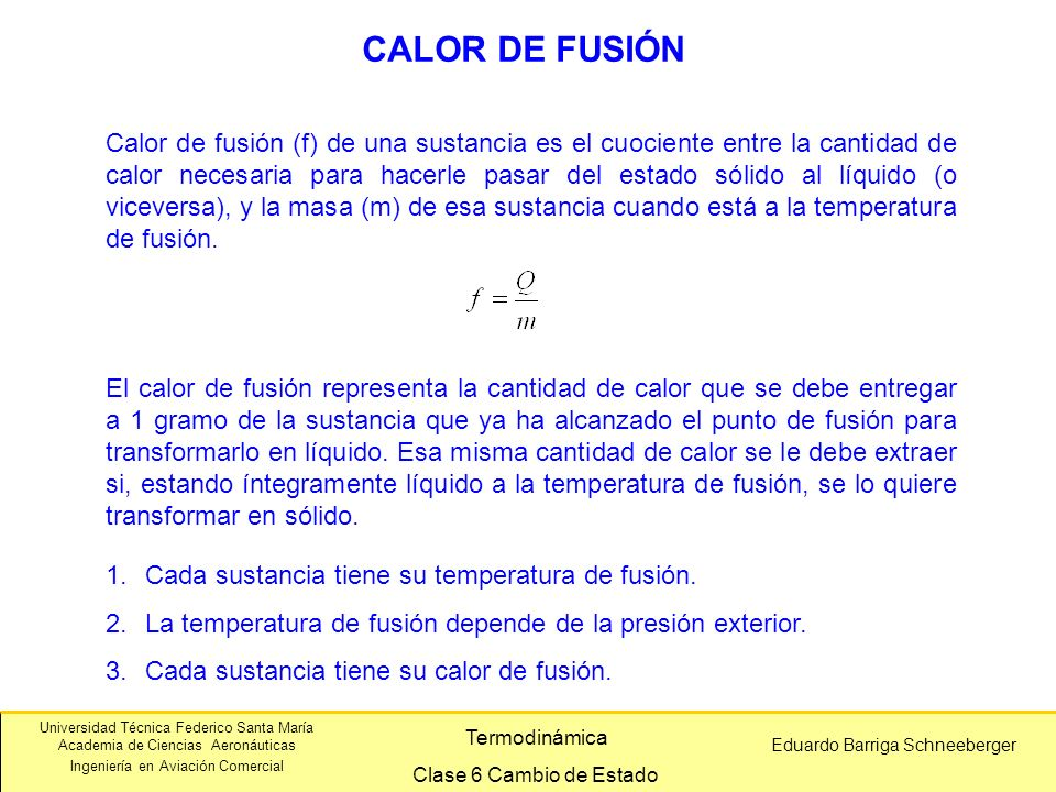 CALOR DE FUSIÓN