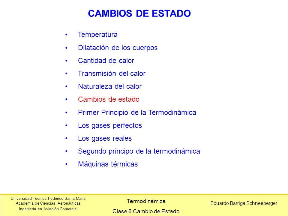 CAMBIOS DE ESTADO Temperatura Dilatación de los cuerpos