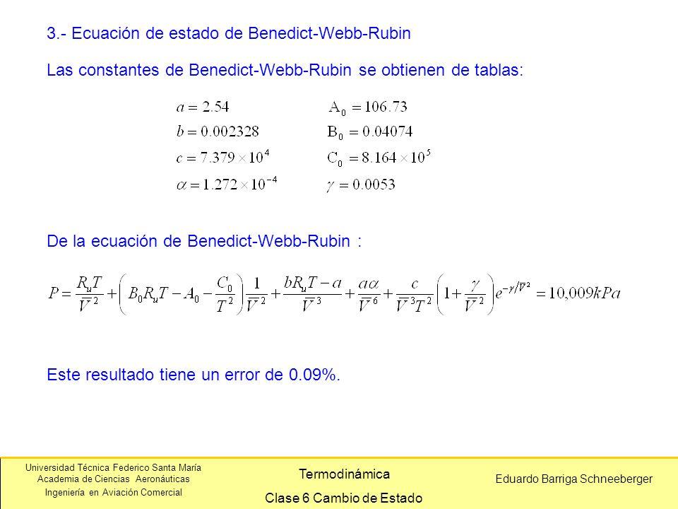 3.- Ecuación de estado de Benedict-Webb-Rubin