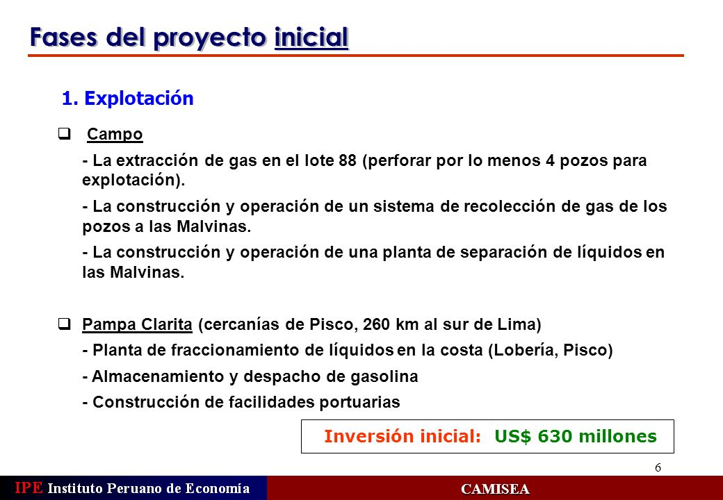 Fases del proyecto inicial