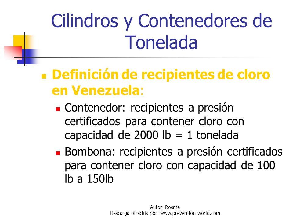 Cilindros y Contenedores de Tonelada