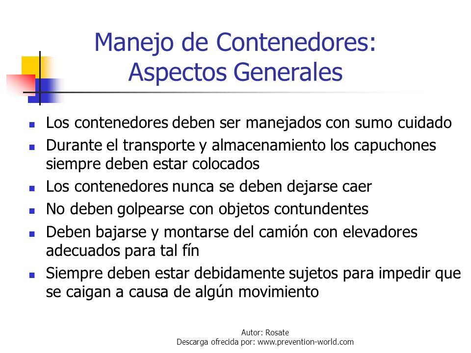 Manejo de Contenedores: Aspectos Generales
