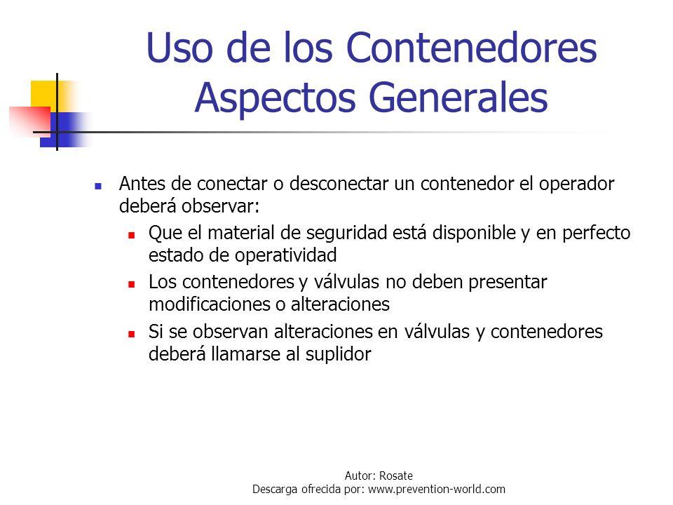 Uso de los Contenedores Aspectos Generales