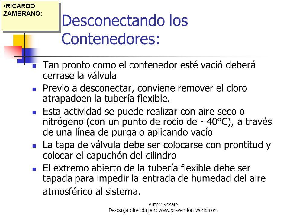 Desconectando los Contenedores: