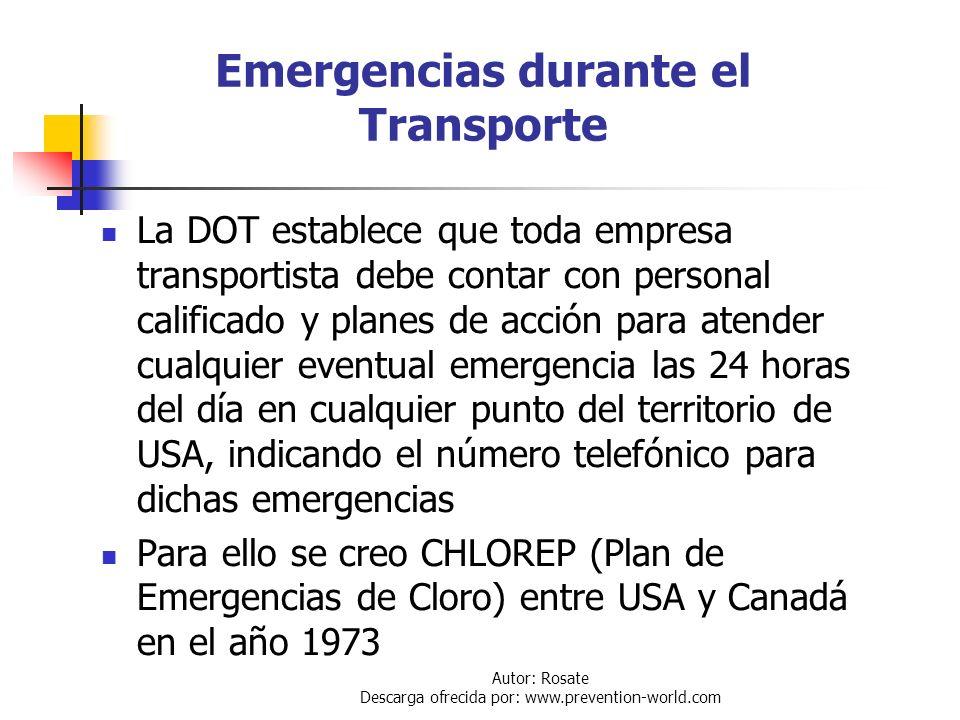 Emergencias durante el Transporte