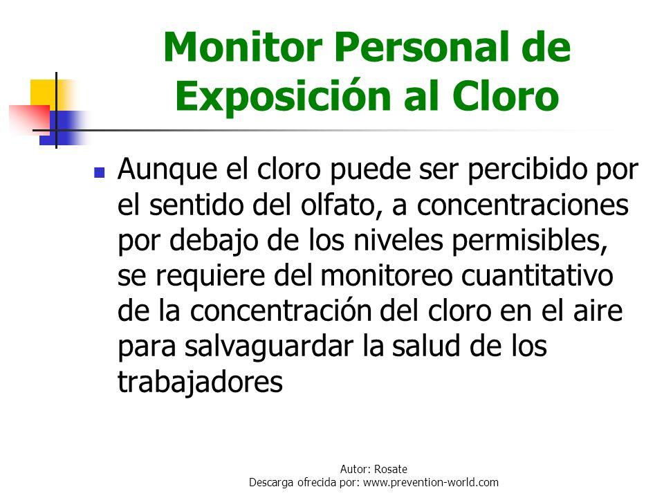 Monitor Personal de Exposición al Cloro