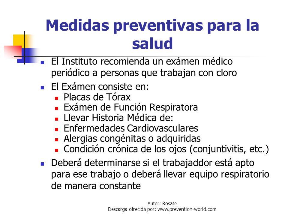 Medidas preventivas para la salud