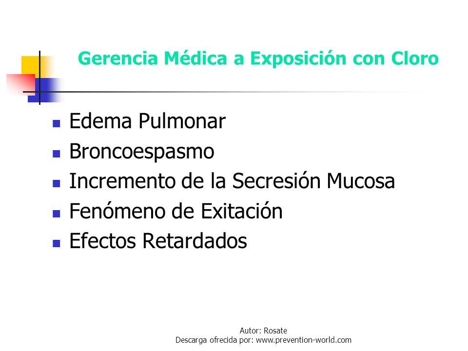 Gerencia Médica a Exposición con Cloro