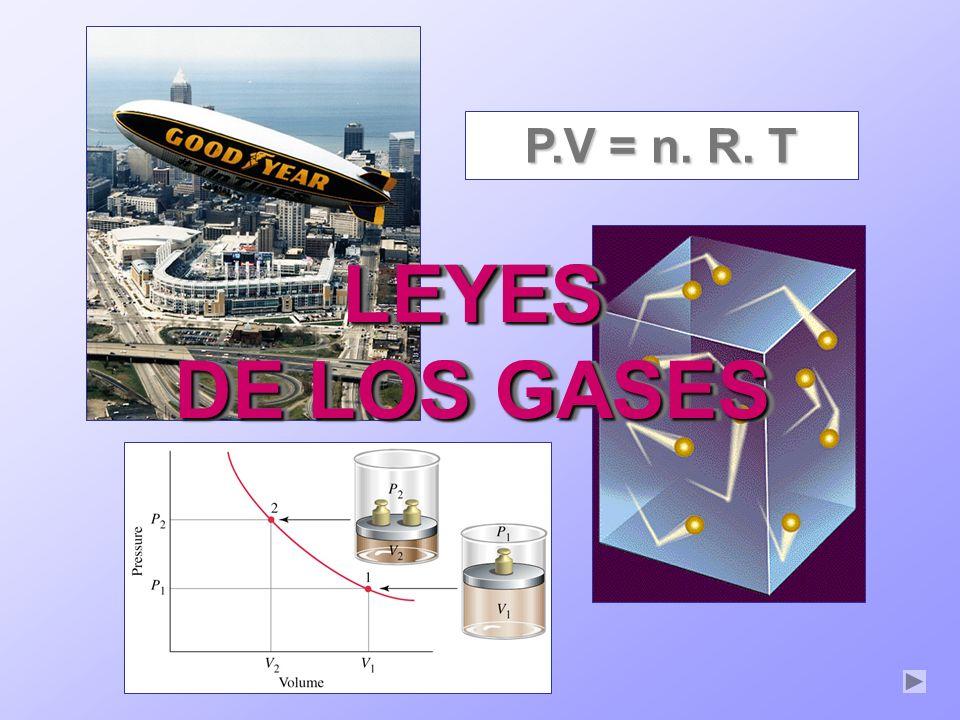 P.V = n. R. T LEYES DE LOS GASES