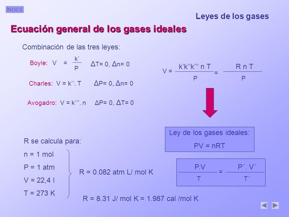 Ecuación general de los gases ideales
