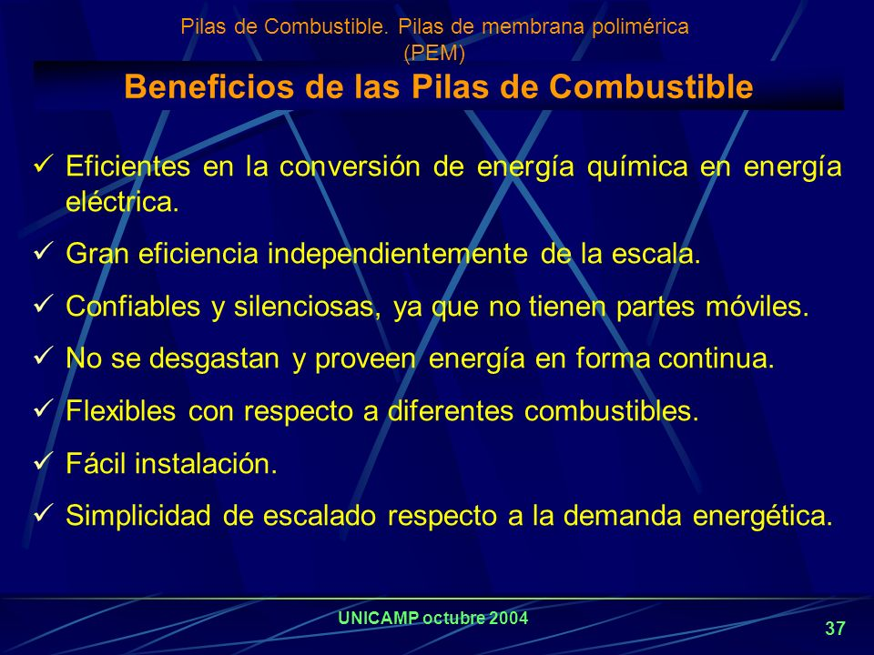 Beneficios de las Pilas de Combustible