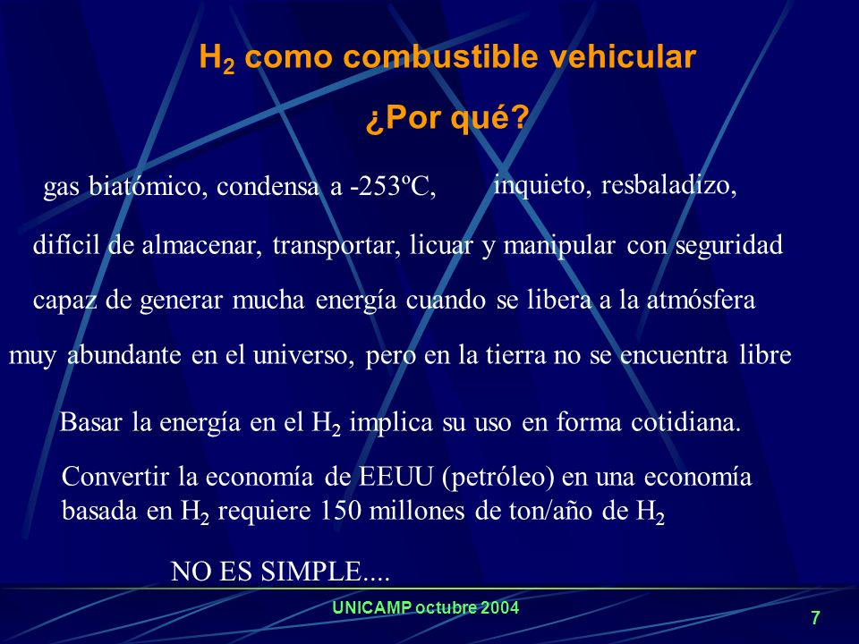 H2 como combustible vehicular