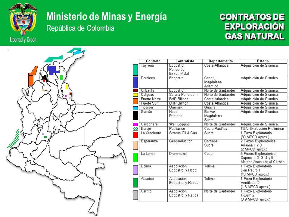 CONTRATOS DE EXPLORACIÓN GAS NATURAL