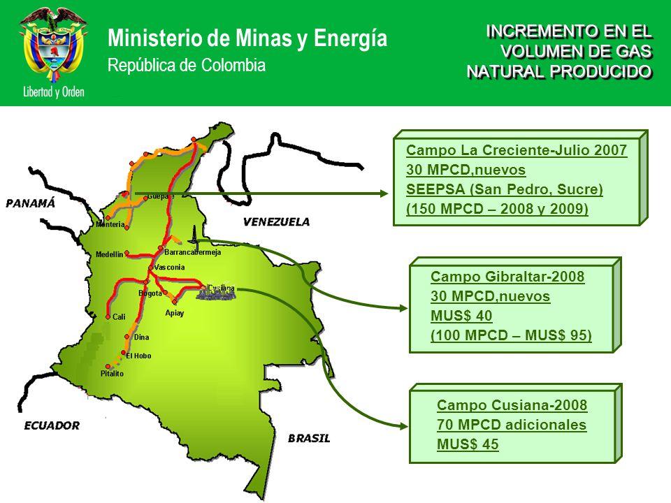 INCREMENTO EN EL VOLUMEN DE GAS NATURAL PRODUCIDO