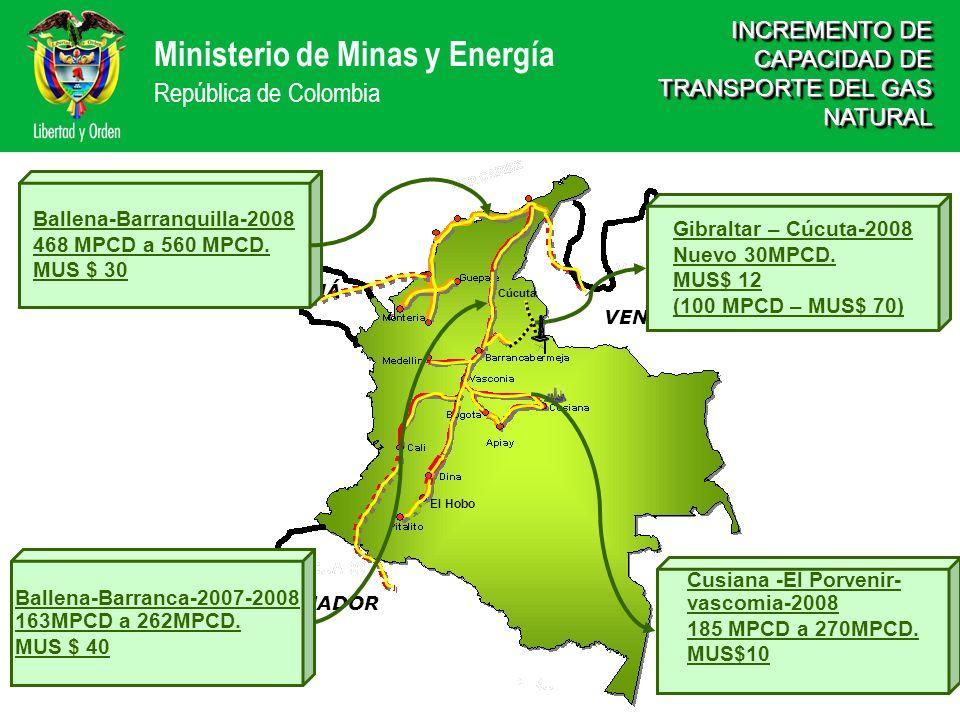 INCREMENTO DE CAPACIDAD DE TRANSPORTE DEL GAS NATURAL