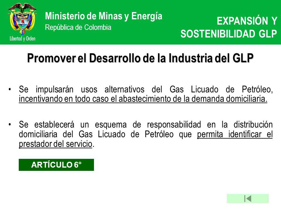 Promover el Desarrollo de la Industria del GLP
