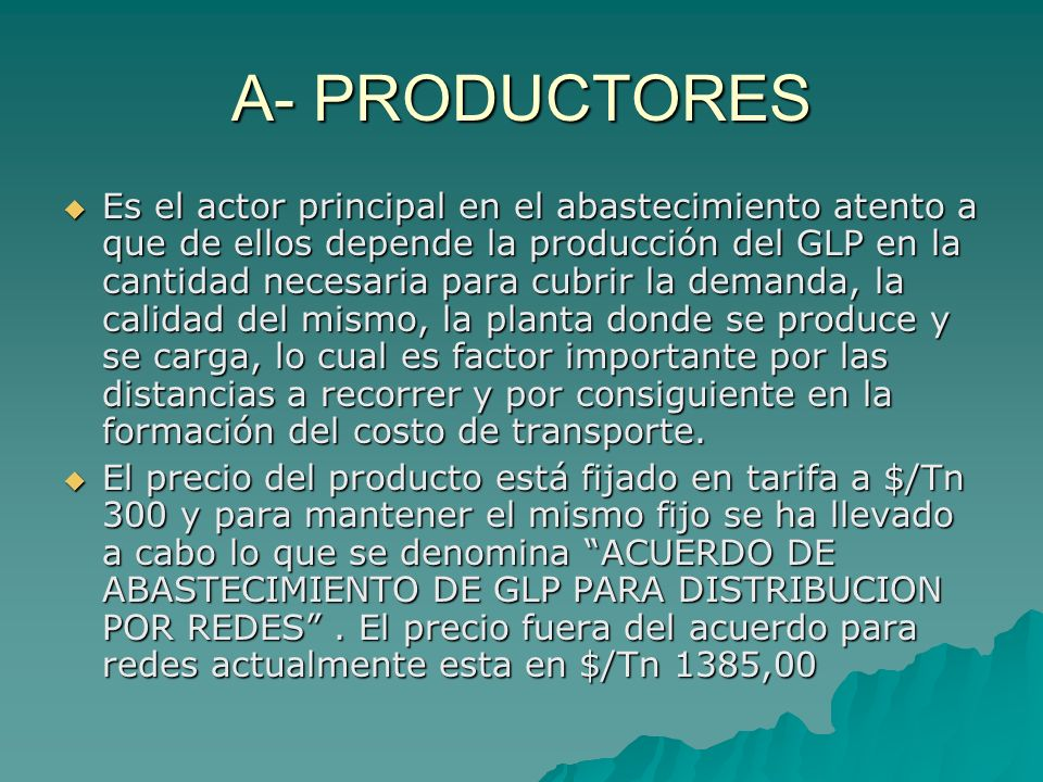 A- PRODUCTORES