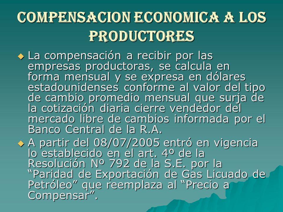 Compensacion economica a los productores