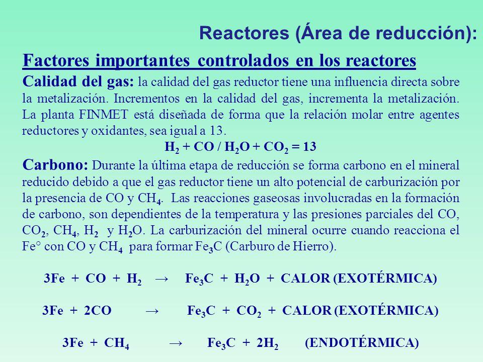 Reactores (Área de reducción):