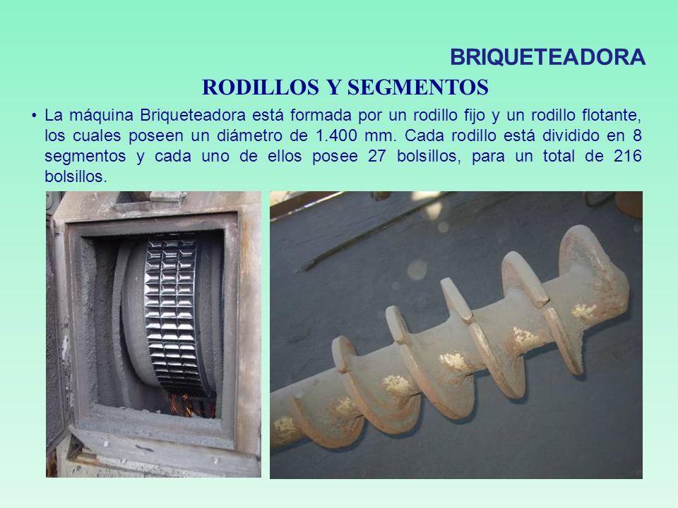 BRIQUETEADORA RODILLOS Y SEGMENTOS