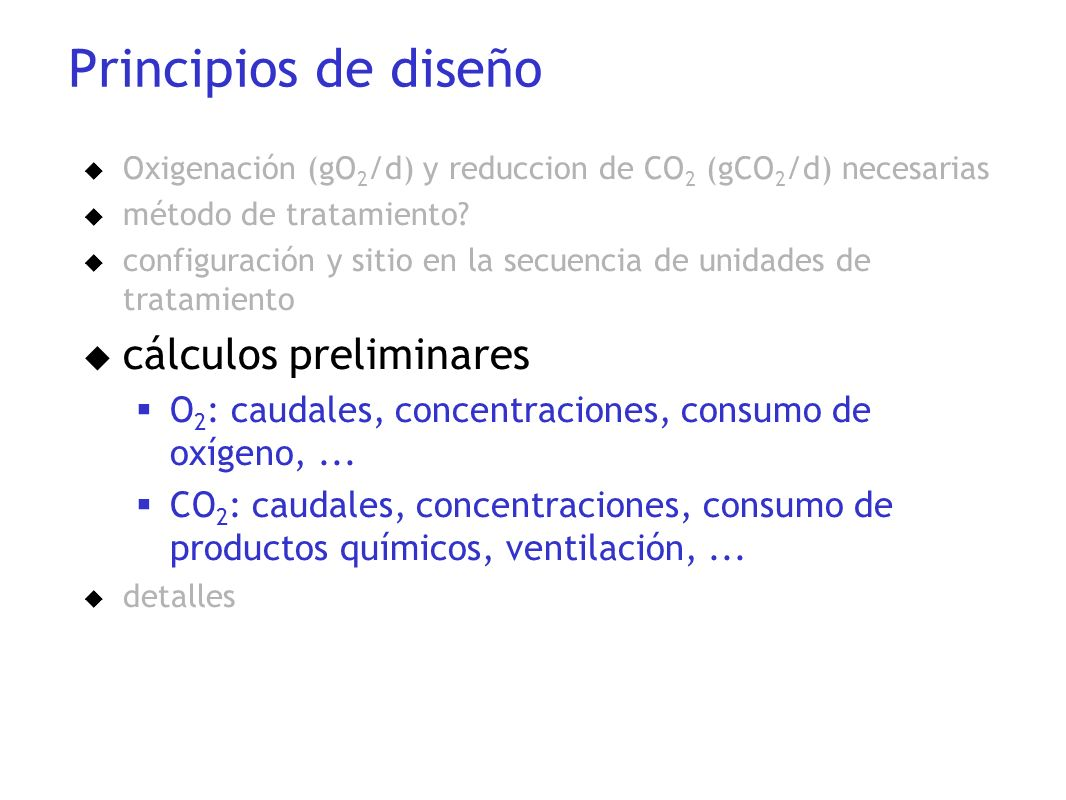 Principios de diseño cálculos preliminares