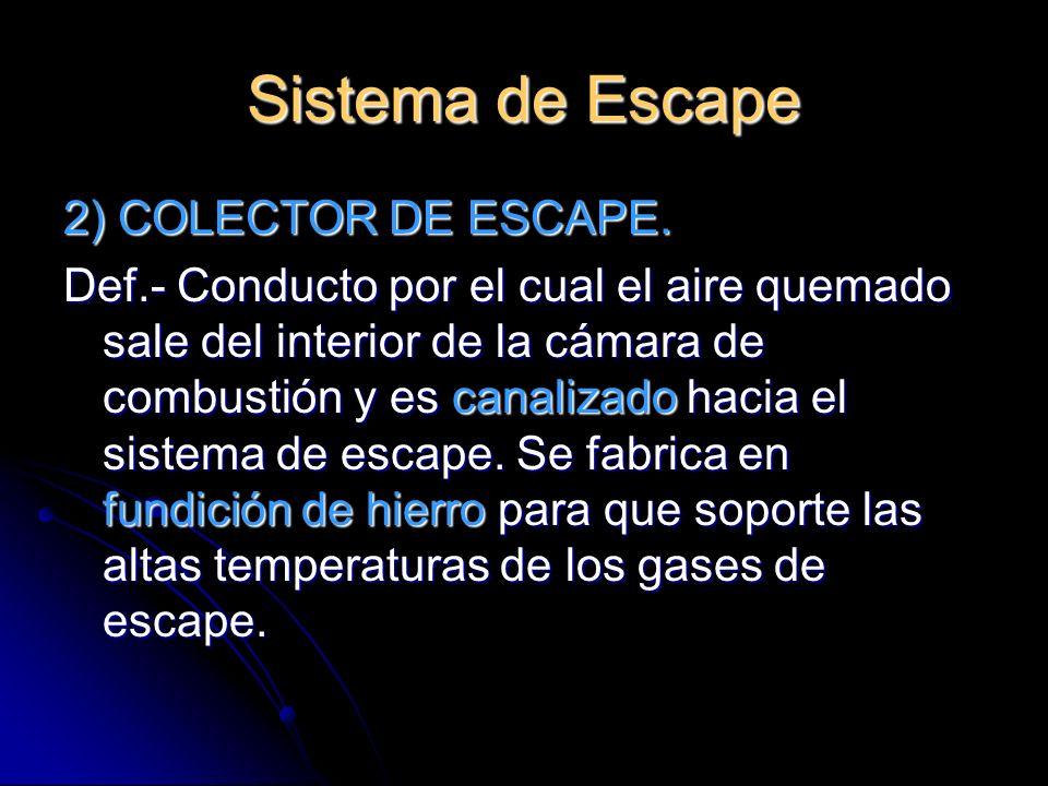 Sistema de Escape 2) COLECTOR DE ESCAPE.