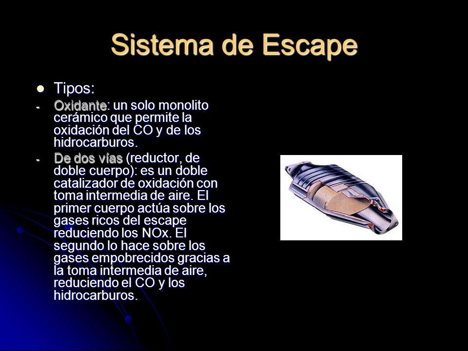 Sistema de Escape Tipos: