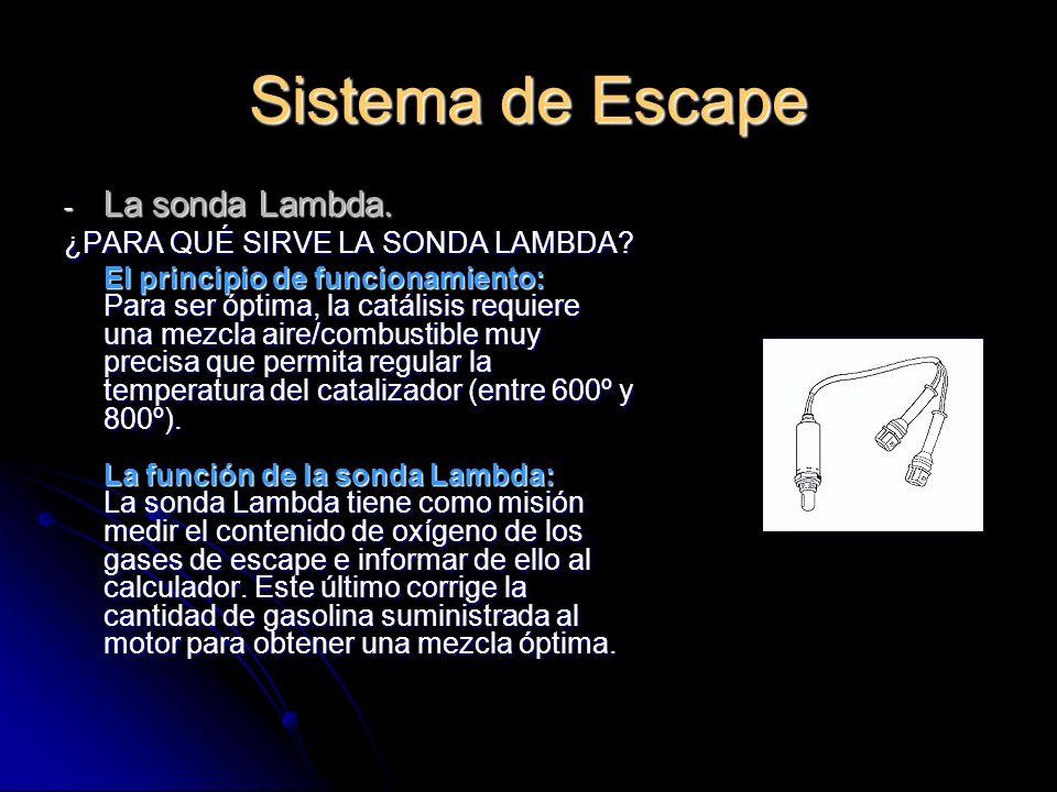 Sistema de Escape La sonda Lambda. ¿PARA QUÉ SIRVE LA SONDA LAMBDA