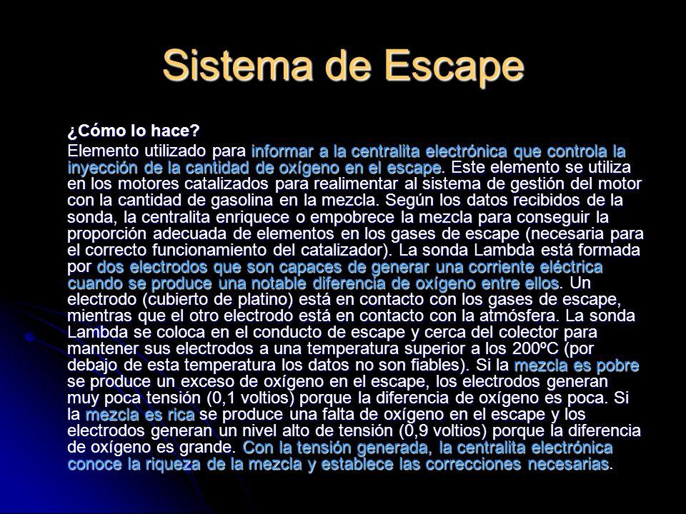 Sistema de Escape ¿Cómo lo hace