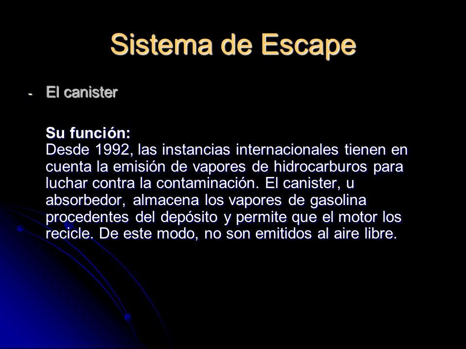 Sistema de Escape El canister
