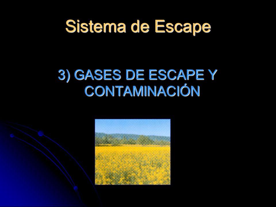 3) GASES DE ESCAPE Y CONTAMINACIÓN