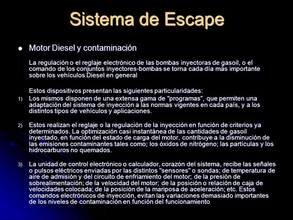Sistema de Escape Motor Diesel y contaminación