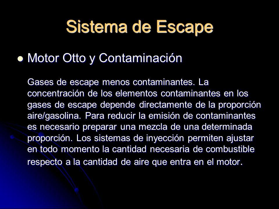 Sistema de Escape Motor Otto y Contaminación