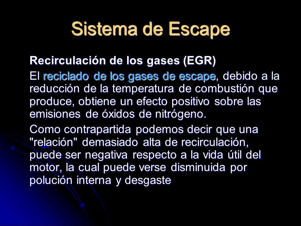 Sistema de Escape Recirculación de los gases (EGR)