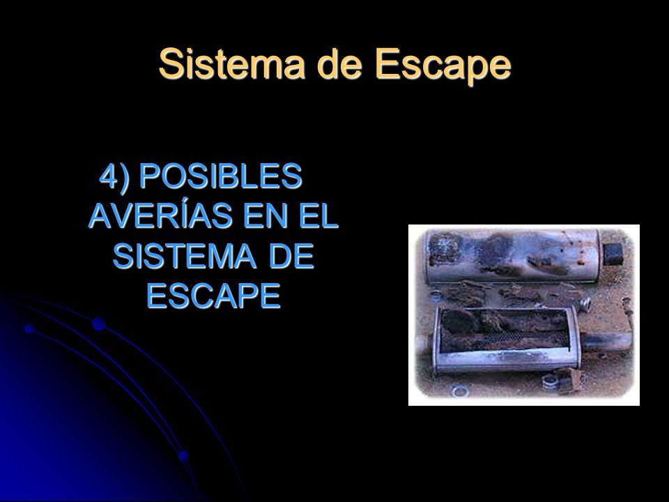 4) POSIBLES AVERÍAS EN EL SISTEMA DE ESCAPE