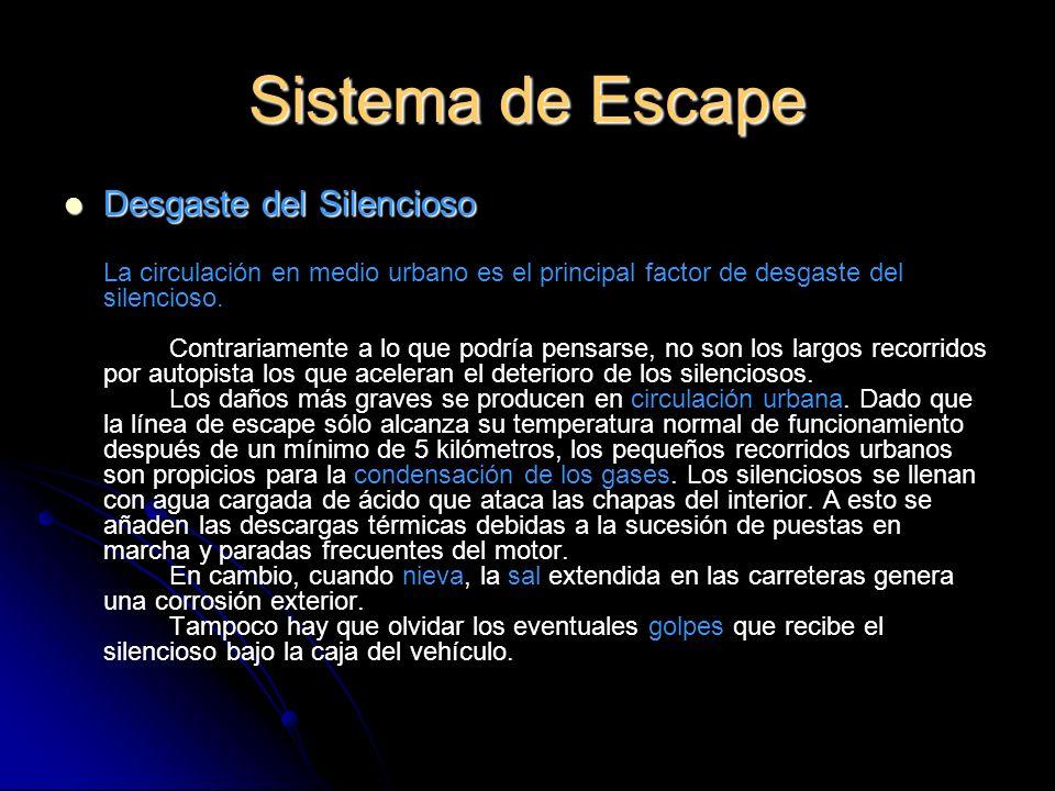 Sistema de Escape Desgaste del Silencioso