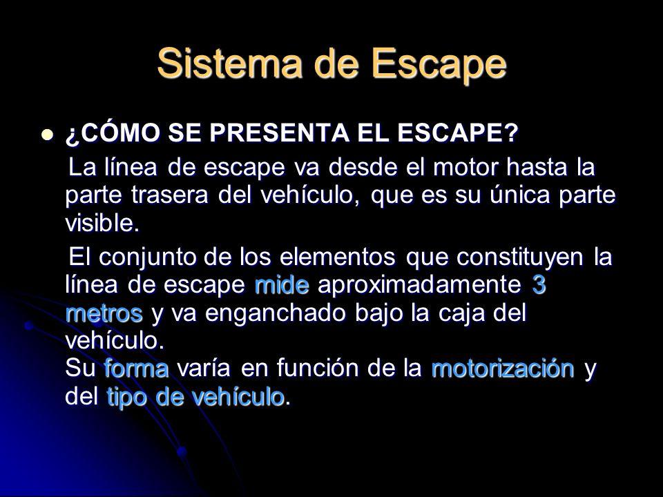 Sistema de Escape ¿CÓMO SE PRESENTA EL ESCAPE