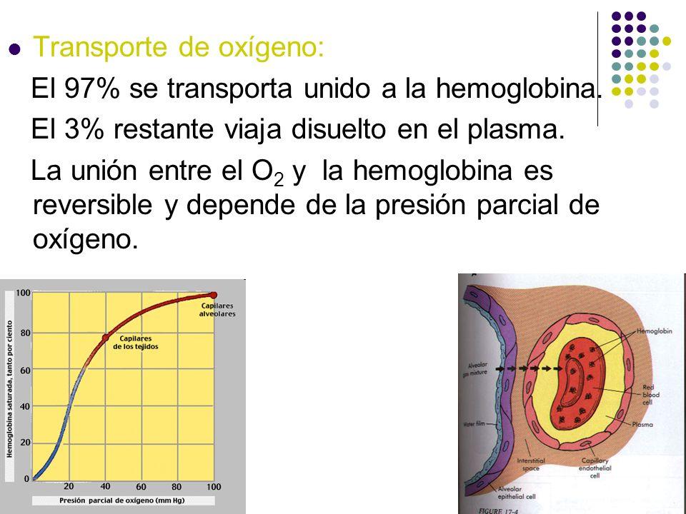 Transporte de oxígeno: