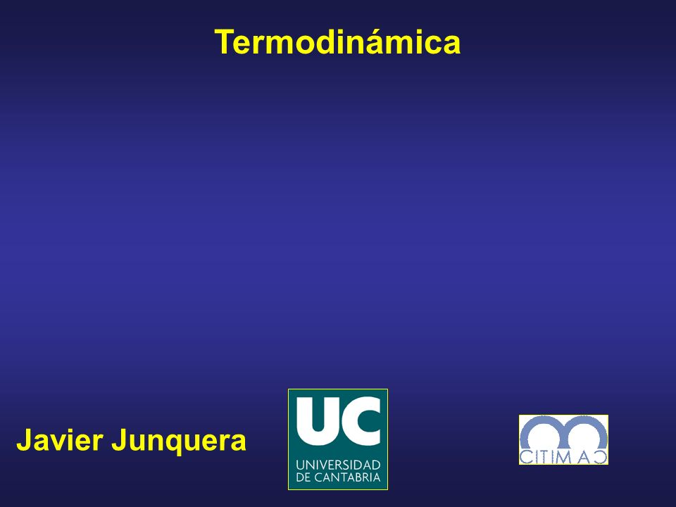 Termodinámica Javier Junquera