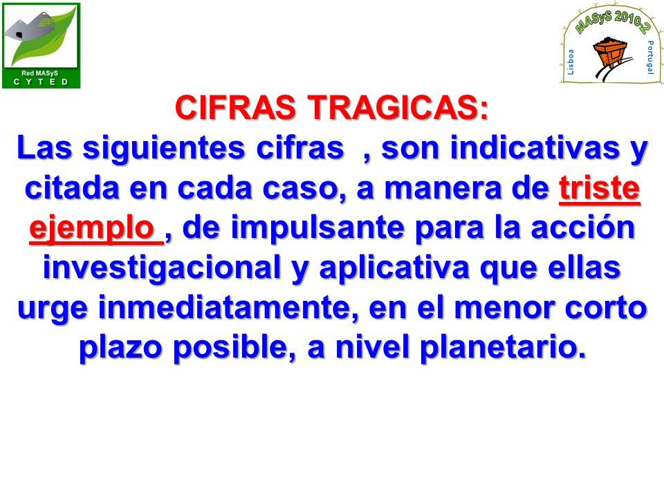 CIFRAS TRAGICAS: