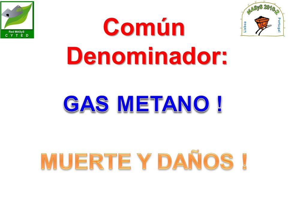 Común Denominador: GAS METANO ! MUERTE Y DAÑOS !