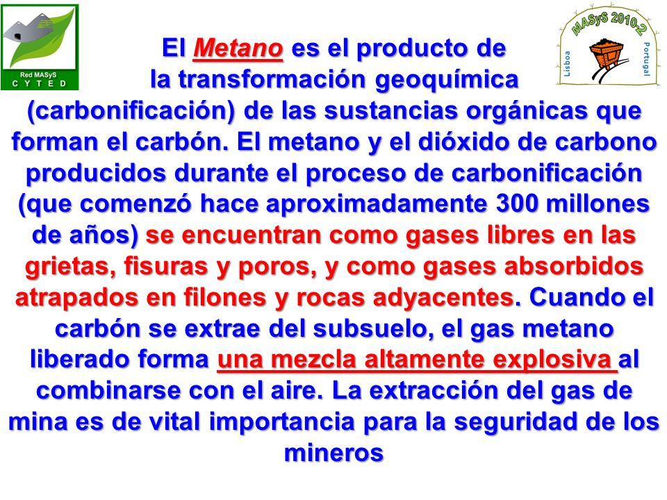 El Metano es el producto de la transformación geoquímica