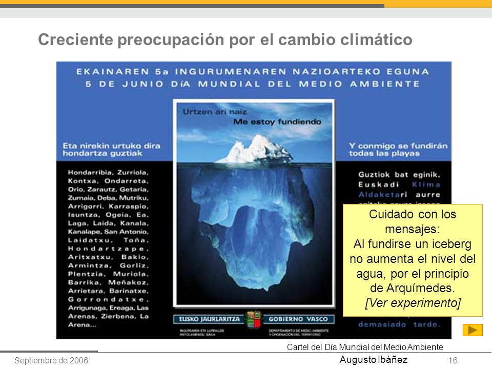Creciente preocupación por el cambio climático
