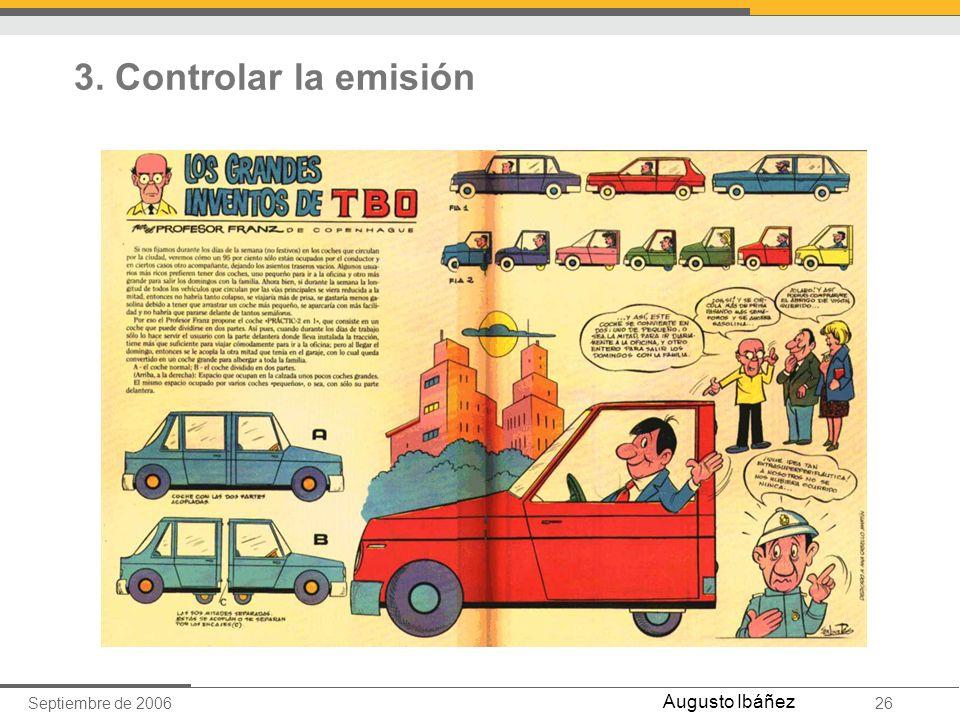 3. Controlar la emisión