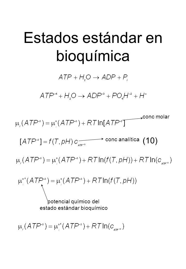 Estados estándar en bioquímica